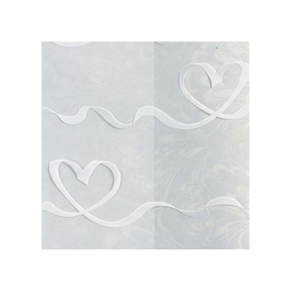 White Satin Hearts color swatch