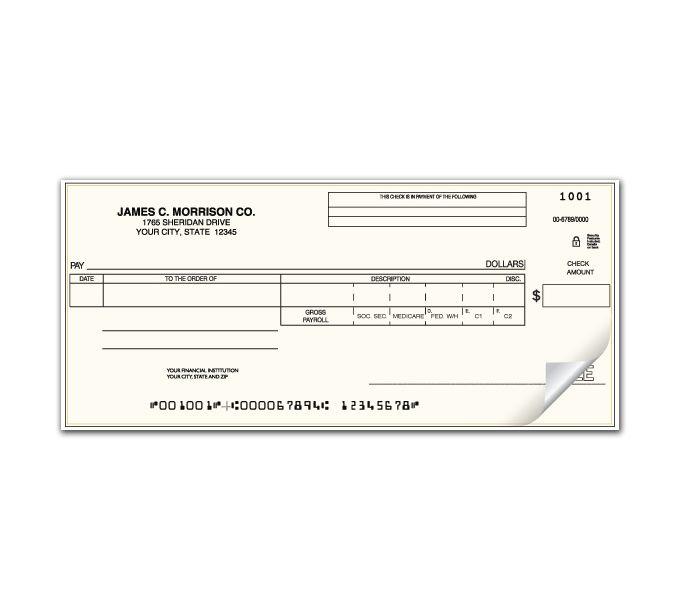 C482-Payroll/Disbursement One Write CheckC482