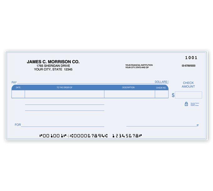 C489-Compact Size One Write CheckC489