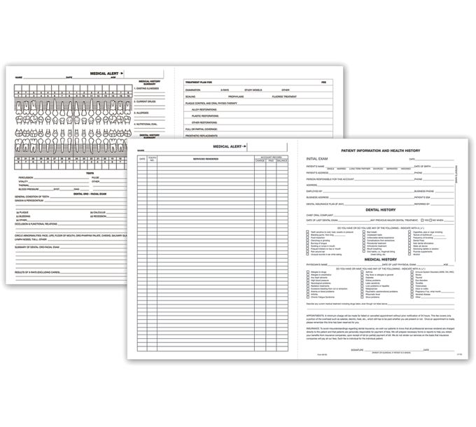 D100-Four-Page Dental Exam Record, With Treatment PlanD100