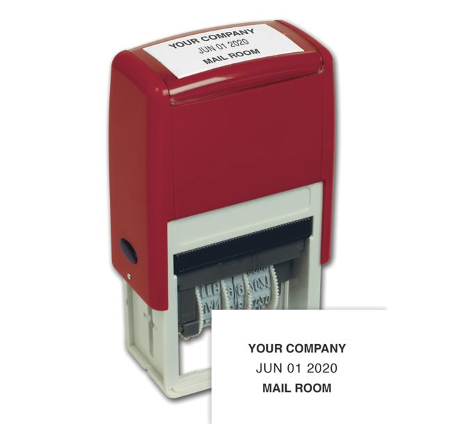 D140-Self-Inking Plastic Dater Stamp - One ColorD140