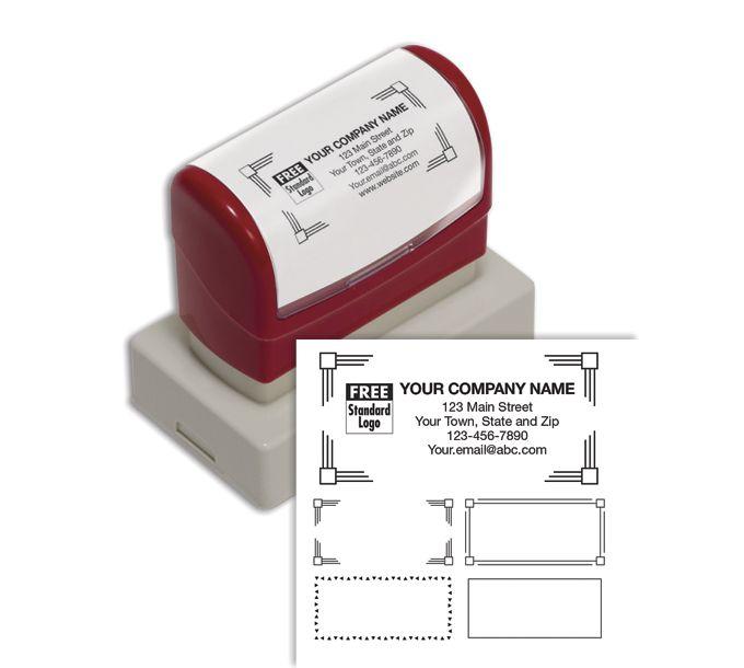D2022L-Name & Address Stamp, Large - Pre-InkedD2022L