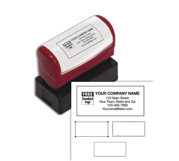 D2022M-Name & Address Stamp, Medium - Pre-InkedD2022M