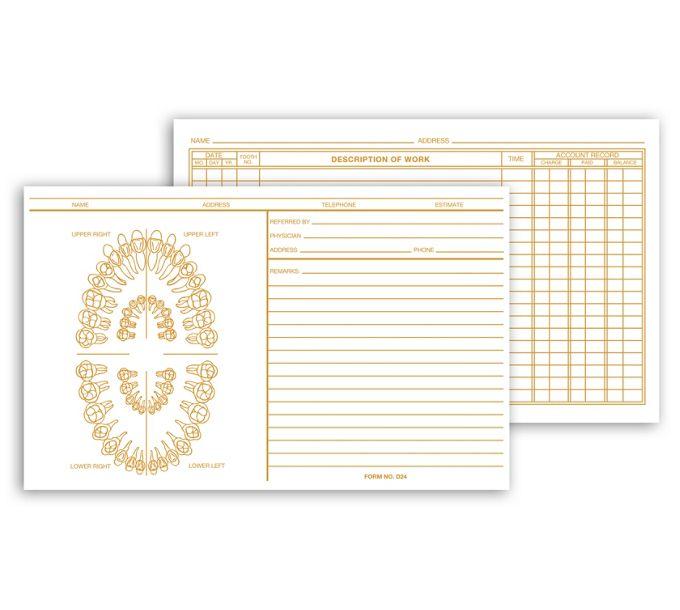 D24-Dental Exam Card File Record, UnnumberedD24