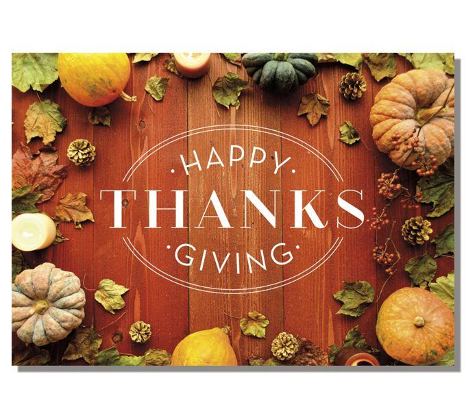 Rustic Bounty Thanksgiving CardsD2613