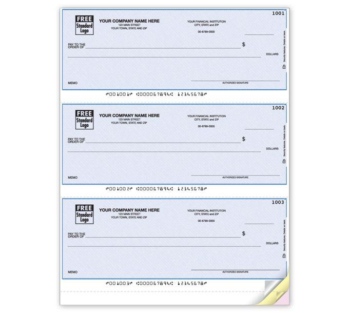 DLA104-Laser 3-To-A-Page Checks, LinedDLA104