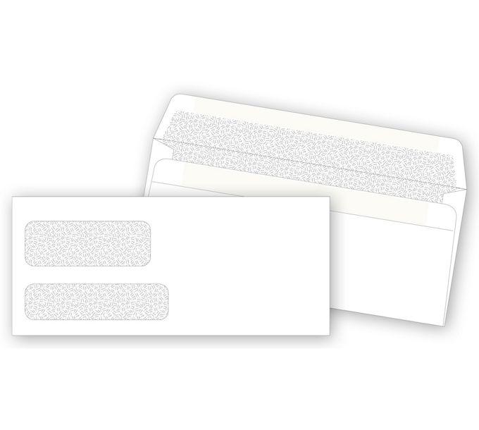 DW3787S-Double Window Confidential Envelope, Self-SealDW3787S