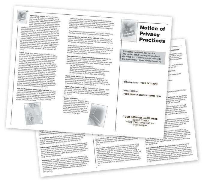 FPRV-Notice of Privacy Practices HIPAA Trifold BrochureFPRV