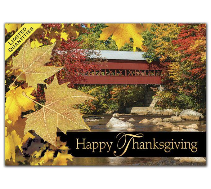 Bridge of Thanks Thanksgiving CardsH08670