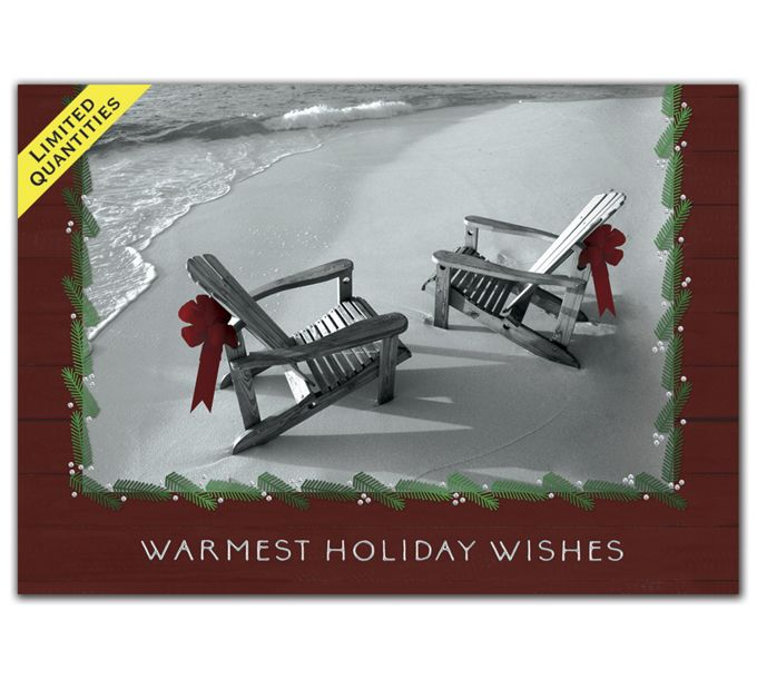 Beachfront Holiday Greeting CardsH08684