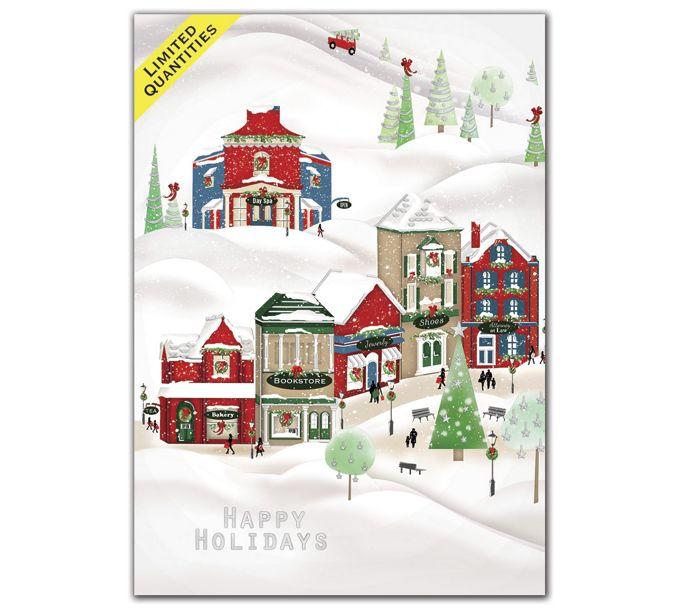 Cheerful Village Holiday CardsH08687