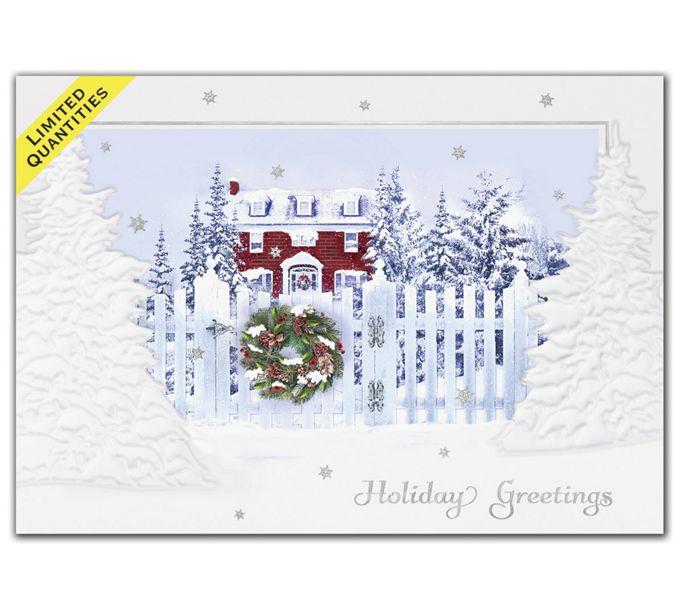 White Picket Fence Holiday CardsH09614