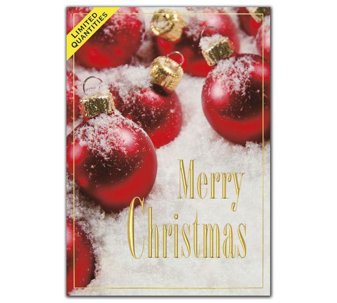 Crimson All Over Christmas CardsH09626