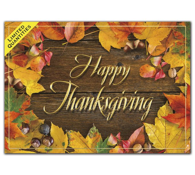 Autumn Shine Thanksgiving CardsH09640