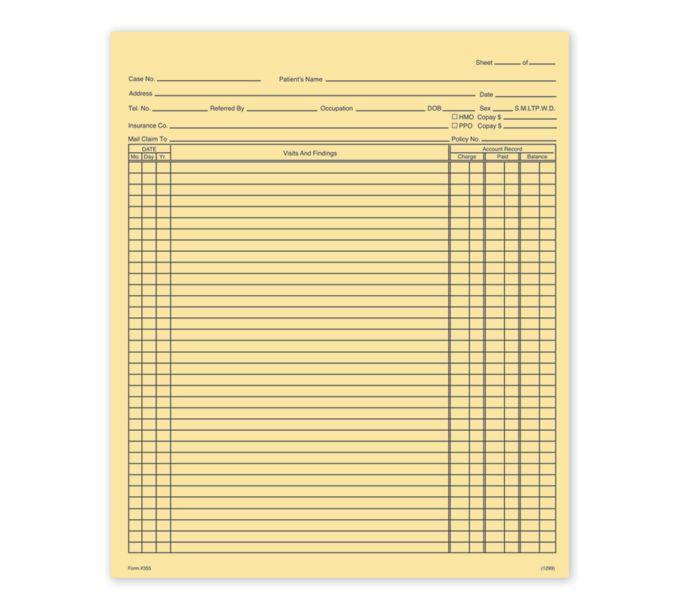 General Patient Exam Records, Folder StyleH355