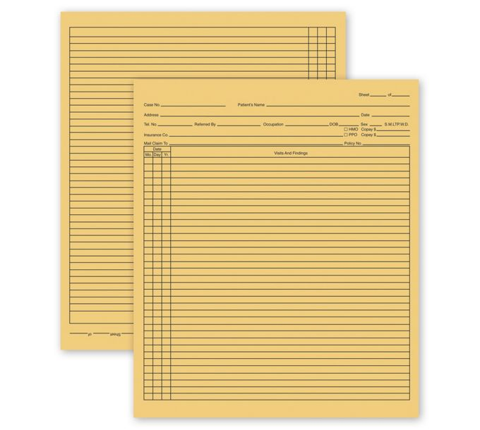 General Patient Exam Records,Folder StyleH356