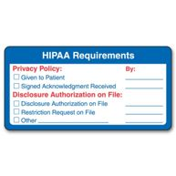 HIPAA Requirements Label