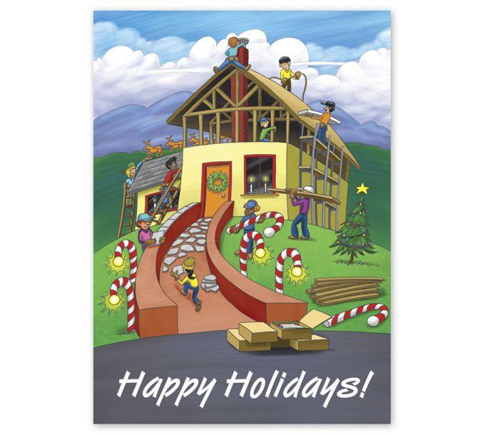 Building Holiday Joy Contractor & Builder Holiday CardsHL2511