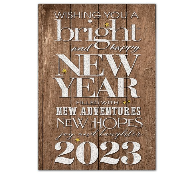 Rustic New Year Holiday CardsHP08317