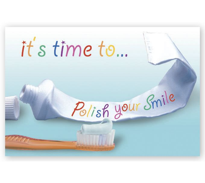 LRP201B-Dental Laser Postcards, It's Time to Polish your SmileLRP201B