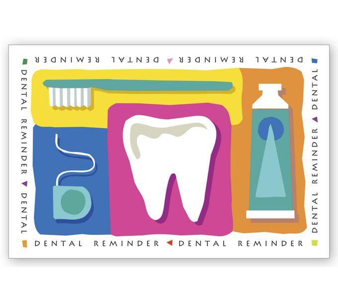 LRP961-Dental Laser Postcards, Dental ReminderLRP961