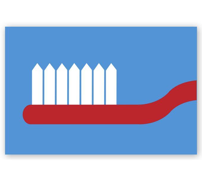 LRP963-Dental Laser Postcards, ToothbrushLRP963