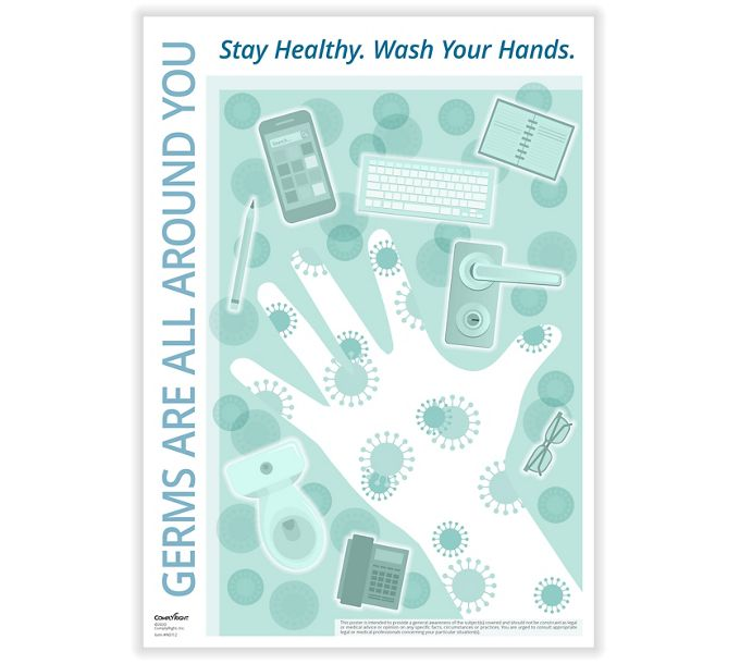 Germs are All Around You PosterN0112
