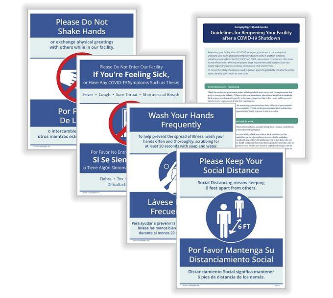 Social Distancing and Hygiene - Facility Signage BundleN0123