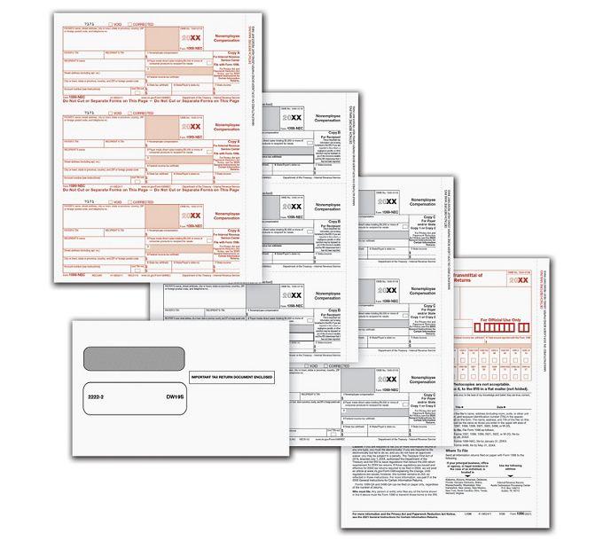 1099 NEC LZR PACK SET 5-PT W/ENV(50 EMP)NE6105E