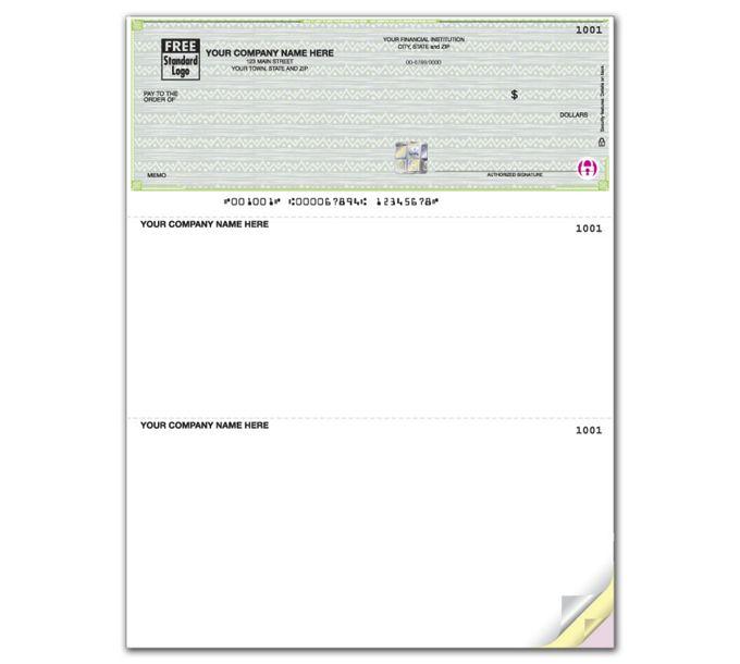 PSLT104-Deluxe HS Vibrant Laser Top Check, UnlinedPSLT104