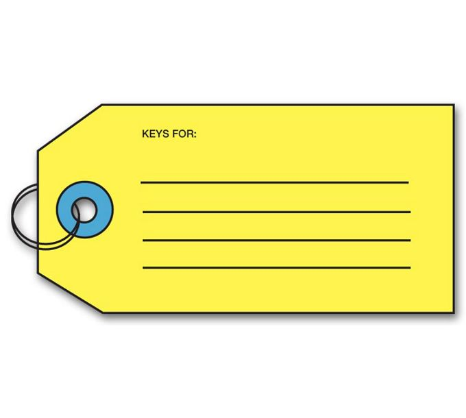 Key Tag w/Key RingR163
