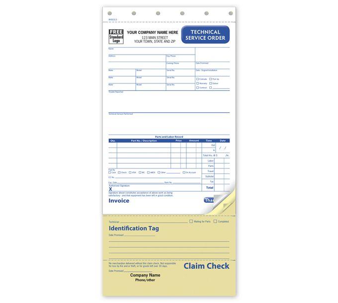 Technical Service Order, CarbonlessRHS0313