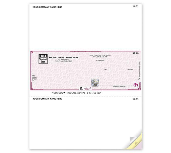 SKLM102-Deluxe High Security Susan G. Komen Laser Middle CheckSKLM102