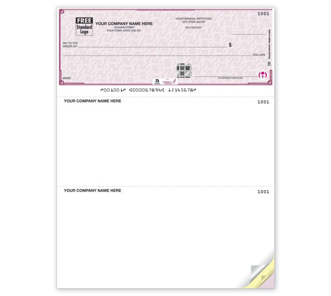 SKLT103-Deluxe High Security Susan G. Komen Laser Top CheckSKLT103
