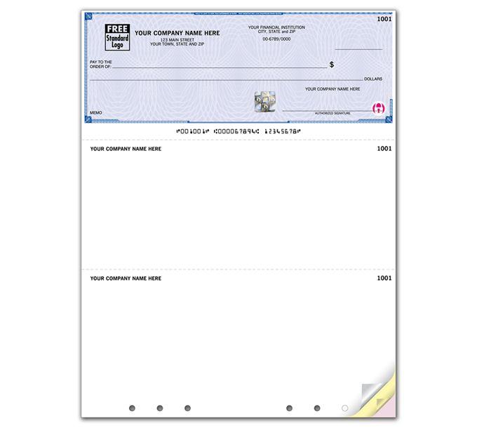 SSLT102-Deluxe High Security Laser Top Check Hole PunchedSSLT102