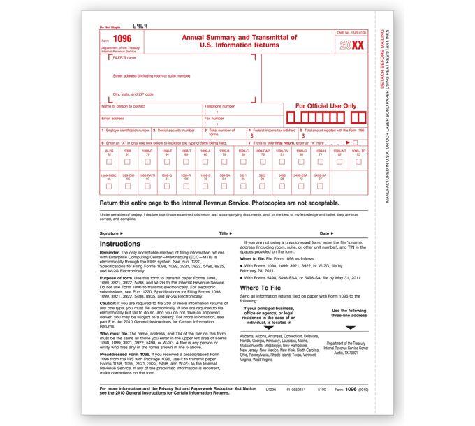 2021 Laser 1096 Transmittal FormTF5100