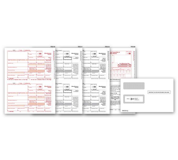 2021 Laser 1099-MISC Income Set & Envelope Kit, 3-partTF6102E