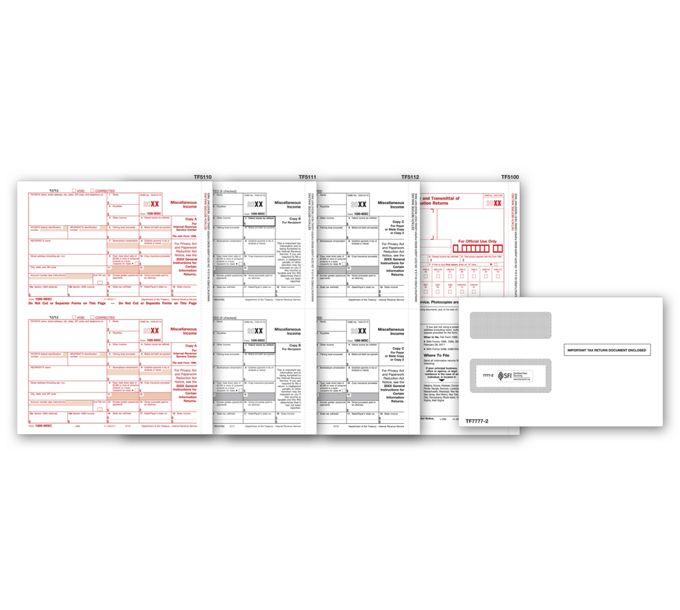 2021 Laser 1099-MISC Income Set & Envelope Kit, 4-partTF6103E