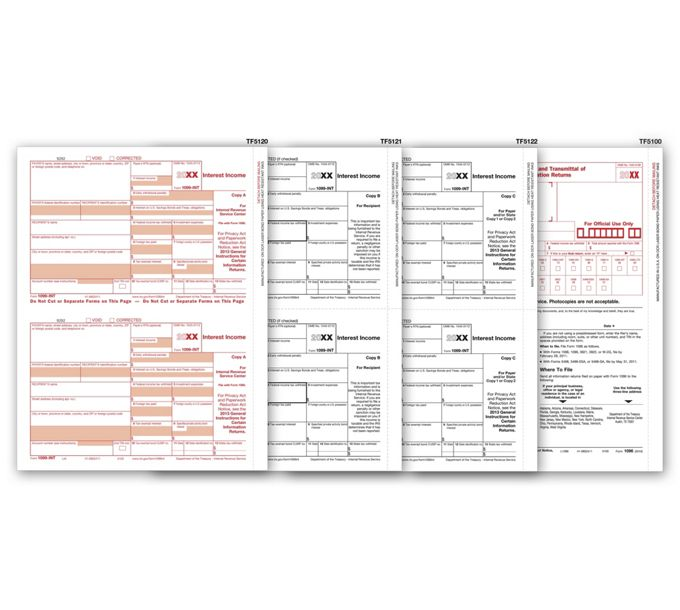 2021 Laser 1099-INT Income Set, 3-partTF6104