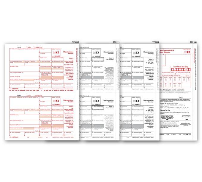 2021 Laser 1099-MISC Income Set, 5-partTF6105