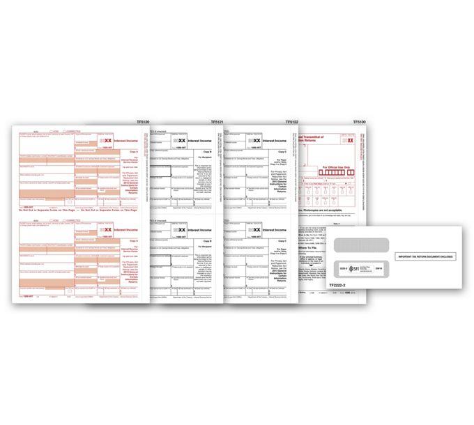 2021 Laser 1099-INT Income Set & Envelope Kit, 4-partTF6106E