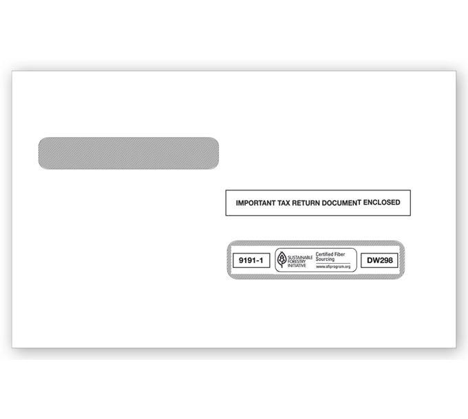 2021 4-Up Box Laser W-2 Double-Window EnvelopeTF91911