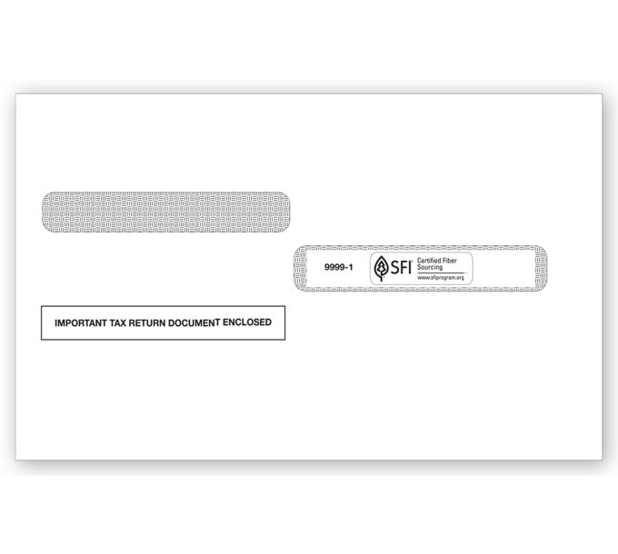 2021 4-Up Box Laser W-2 Double-Window EnvelopeTF99991