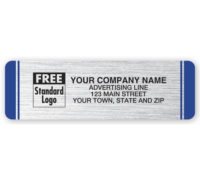 WIL8S-Weather-Resistant Labels, Brushed Poly, SilverWIL8S