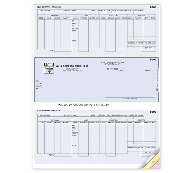 Payroll Laser Checks, Compatible with Microsoft DynamicsZLM335