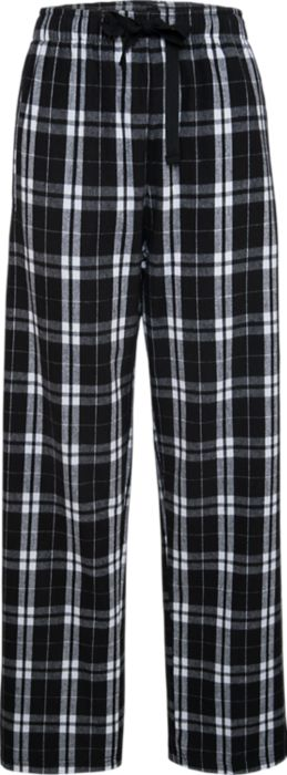 Flannel Pant in Black w/ Embroidered Logo