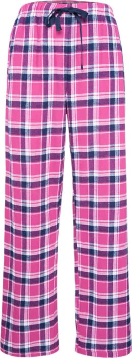 Flannel Pant in Pink w/ Embroidered Logo