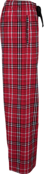 Flannel Pant in Red w/ Embroidered Logo