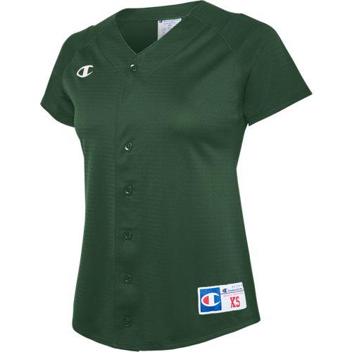 baca9043 Champion Full Button Short Sleeve Jersey | Champion Teamwear