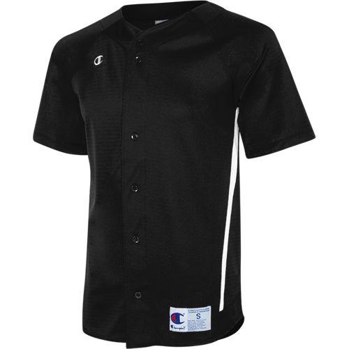 52dfca1b2 Prospect Full Button Baseball Jersey - Black White